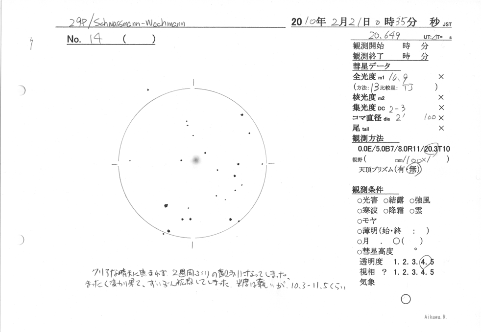 14 - 29P/シュワスマン・ワハマ...